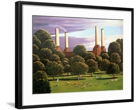 Battersea Power Station, 1982-Liz Wright-Framed Art Print