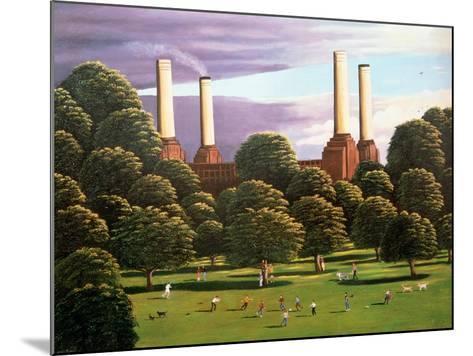 Battersea Power Station, 1982-Liz Wright-Mounted Giclee Print