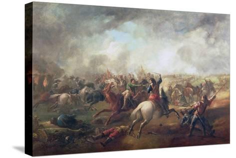 Battle of Marston Moor, 1644-John Barker-Stretched Canvas Print