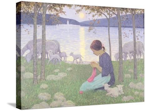 The Little Shepherdess-Janet Fisher-Stretched Canvas Print
