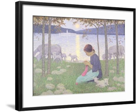 The Little Shepherdess-Janet Fisher-Framed Art Print