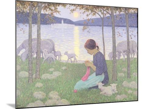 The Little Shepherdess-Janet Fisher-Mounted Giclee Print