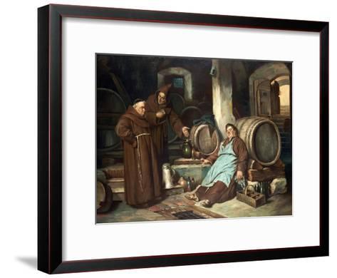 Monks in a Cellar, 1873-J. Haier-Framed Art Print