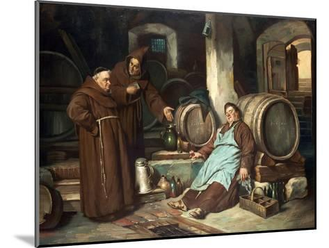 Monks in a Cellar, 1873-J. Haier-Mounted Giclee Print