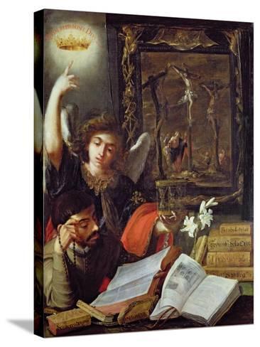 A Jesuit Conversion-Juan de Valdes Leal-Stretched Canvas Print