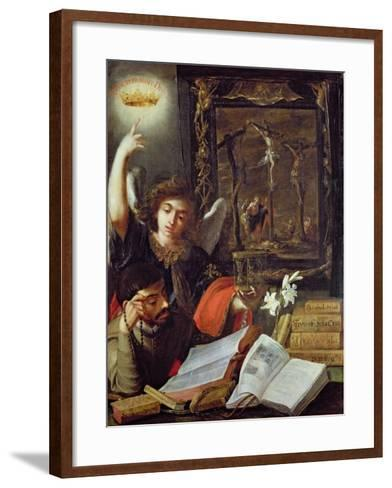 A Jesuit Conversion-Juan de Valdes Leal-Framed Art Print
