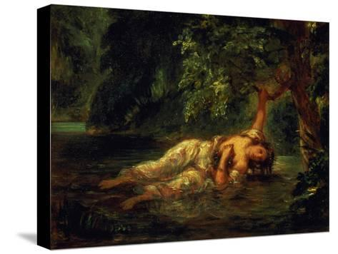 The Death of Ophelia, 1844-Eugene Delacroix-Stretched Canvas Print
