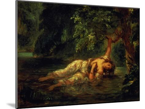 The Death of Ophelia, 1844-Eugene Delacroix-Mounted Giclee Print