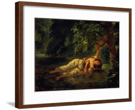 The Death of Ophelia, 1844-Eugene Delacroix-Framed Art Print
