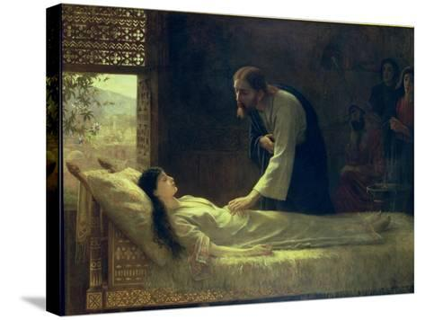 The Raising of Jairus's Daughter, 1889-Edwin Longsden Long-Stretched Canvas Print