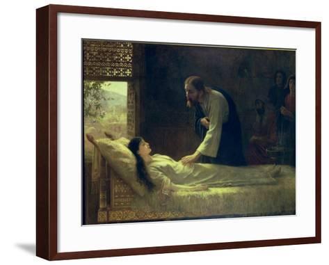 The Raising of Jairus's Daughter, 1889-Edwin Longsden Long-Framed Art Print