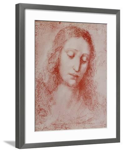 The Redeemer-Leonardo da Vinci-Framed Art Print