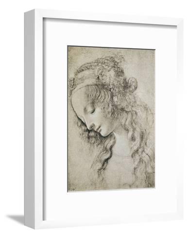 Study for the Head of Mary Magdalene-Leonardo da Vinci-Framed Art Print