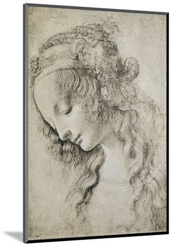 Study for the Head of Mary Magdalene-Leonardo da Vinci-Mounted Giclee Print