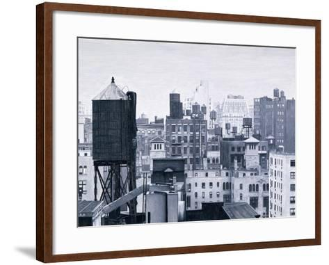 New York Water Towers, 2002-Max Ferguson-Framed Art Print