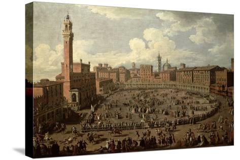 The Palio, Piazza Del Campo, Siena-Giuseppe Zocchi-Stretched Canvas Print