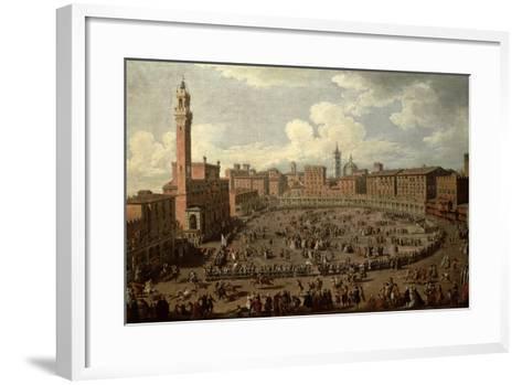 The Palio, Piazza Del Campo, Siena-Giuseppe Zocchi-Framed Art Print