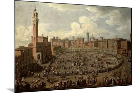 The Palio, Piazza Del Campo, Siena-Giuseppe Zocchi-Mounted Giclee Print
