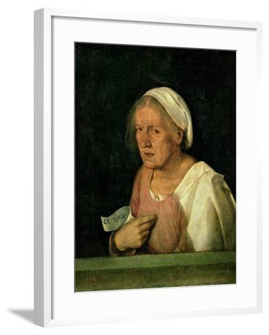 La Vecchia (The Old Woman) after 1505-Giorgione-Framed Art Print