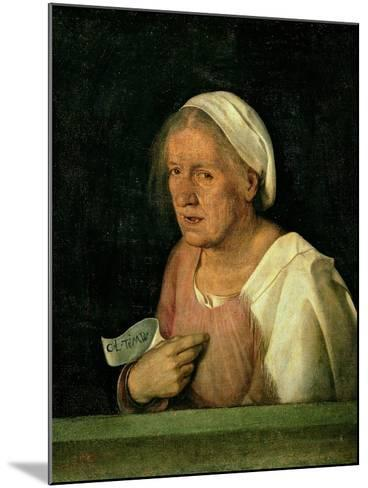 La Vecchia (The Old Woman) after 1505-Giorgione-Mounted Giclee Print