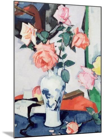 A Vase of Pink Roses-Samuel John Peploe-Mounted Giclee Print