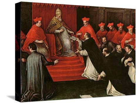 Pope Honorius III (1148-1227) Approving the Order of St. Dominic in 1216 (Detail)-Leandro Da Ponte Bassano-Stretched Canvas Print