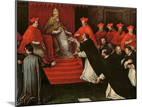 Pope Honorius III (1148-1227) Approving the Order of St. Dominic in 1216 (Detail)-Leandro Da Ponte Bassano-Mounted Giclee Print