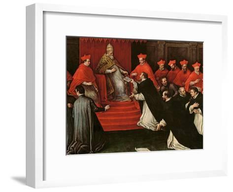 Pope Honorius III (1148-1227) Approving the Order of St. Dominic in 1216 (Detail)-Leandro Da Ponte Bassano-Framed Art Print
