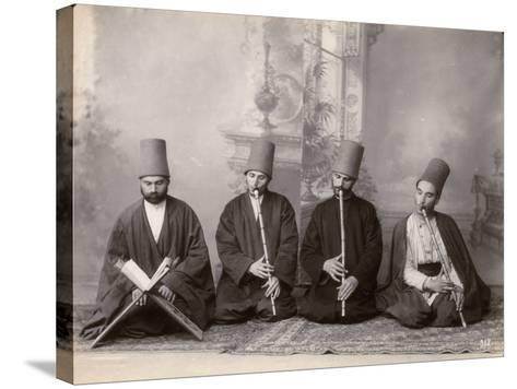 Three Dervish Musicians and a Singer, Turkey, c.1890--Stretched Canvas Print