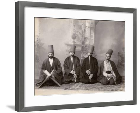 Three Dervish Musicians and a Singer, Turkey, c.1890--Framed Art Print