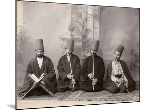 Three Dervish Musicians and a Singer, Turkey, c.1890--Mounted Photographic Print