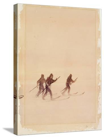Men on Skis-Edward Adrian Wilson-Stretched Canvas Print