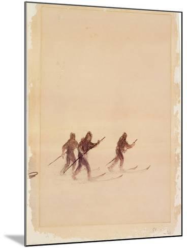 Men on Skis-Edward Adrian Wilson-Mounted Giclee Print