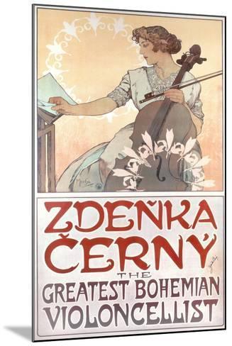 Zdenka Cerny, the Greatest Bohemian Violoncellist, 1913-Alphonse Mucha-Mounted Giclee Print