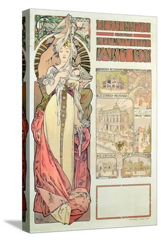 Poster Advertising 'Austria at the International Exposition, Paris 1900', 1900-Alphonse Mucha-Stretched Canvas Print