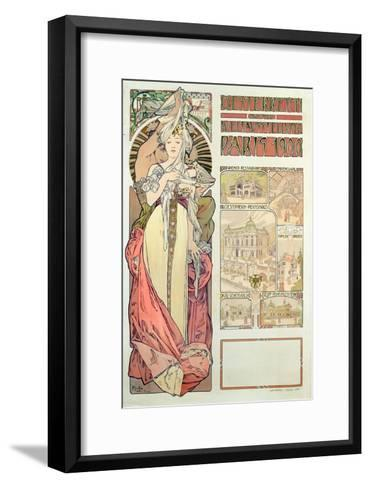 Poster Advertising 'Austria at the International Exposition, Paris 1900', 1900-Alphonse Mucha-Framed Art Print