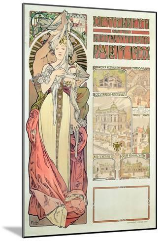 Poster Advertising 'Austria at the International Exposition, Paris 1900', 1900-Alphonse Mucha-Mounted Giclee Print