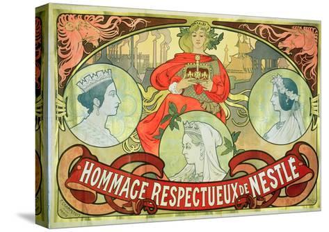Hommage Respectueux De Nestle, 1897-Alphonse Mucha-Stretched Canvas Print
