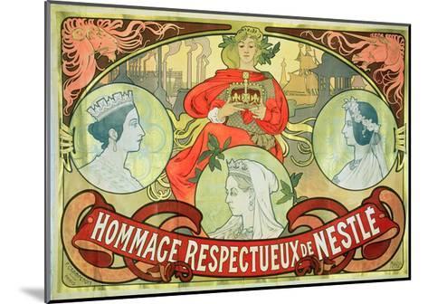 Hommage Respectueux De Nestle, 1897-Alphonse Mucha-Mounted Giclee Print