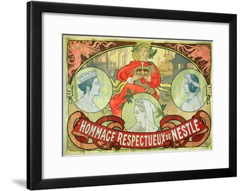 Hommage Respectueux De Nestle, 1897-Alphonse Mucha-Framed Art Print