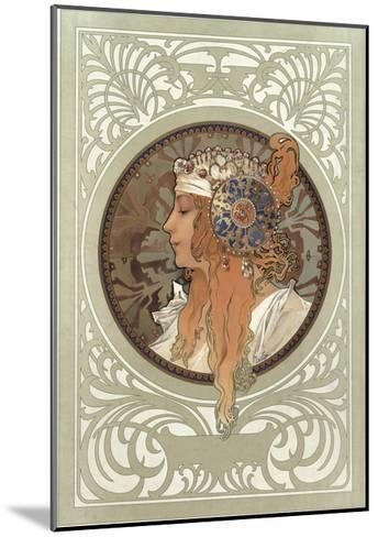 Tetes Byzantines: Blonde, 1897-Alphonse Mucha-Mounted Giclee Print