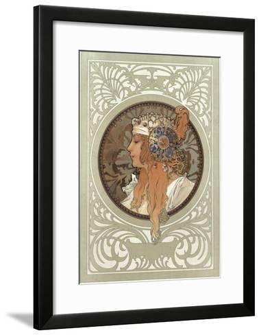 Tetes Byzantines: Blonde, 1897-Alphonse Mucha-Framed Art Print