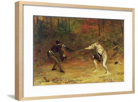 'To the Death: a Sword and Dagger Fight with One Hand Beats Cold Death Aside, and with the Other-John Pettie-Framed Art Print