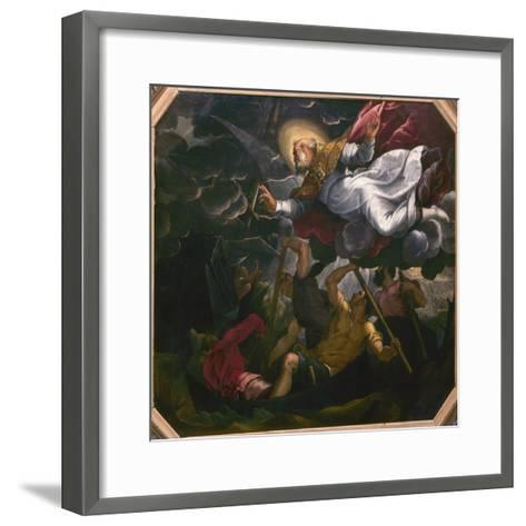 St. Nicholas Helping Some Sailors in a Storm-Leonardo Corona-Framed Art Print