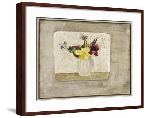 Spring Flowers in a White Jar, c.1928-Christopher Wood-Framed Art Print