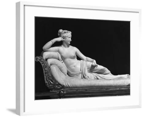 Pauline Bonaparte, Princess Borghese as Venus Triumphant, c.1805-08-Antonio Canova-Framed Art Print