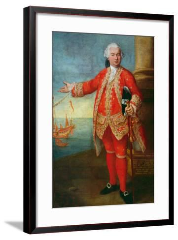Portrait of Angelo Memmo Dressed as a Sea Captain-Alessandro Longhi-Framed Art Print