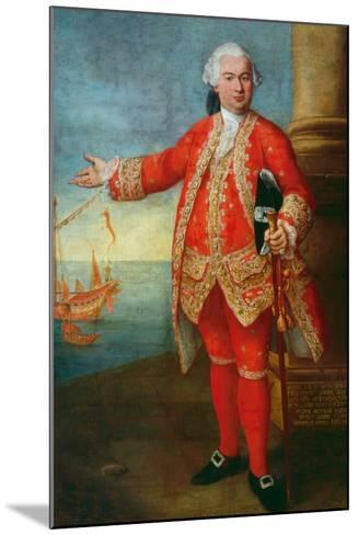 Portrait of Angelo Memmo Dressed as a Sea Captain-Alessandro Longhi-Mounted Giclee Print