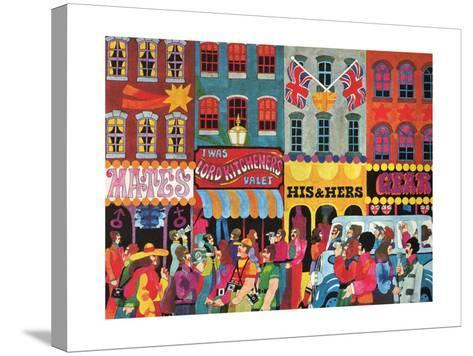 A Saturday Morning 1, from 'Carnaby Street' by Tom Salter, 1970-Malcolm English-Stretched Canvas Print