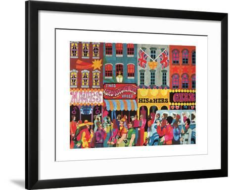 A Saturday Morning 1, from 'Carnaby Street' by Tom Salter, 1970-Malcolm English-Framed Art Print